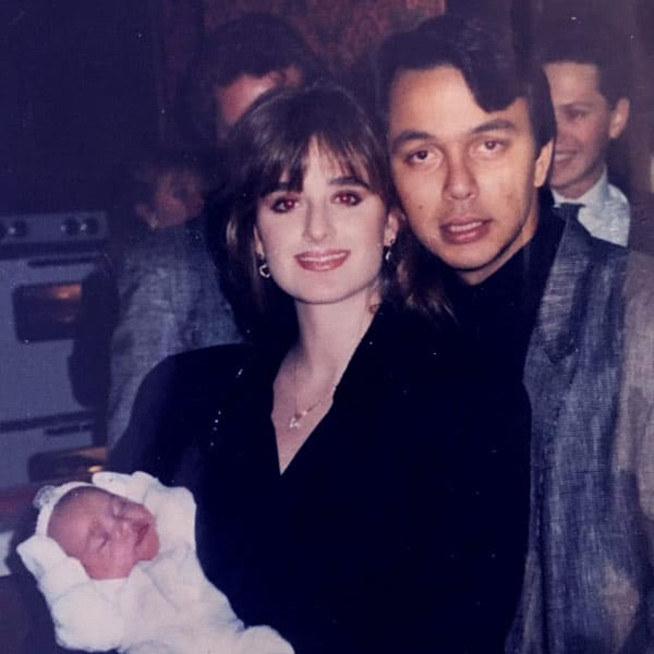 Image of Guraish Aldjufrie with his ex-wife Kyle Richards and with their daughter