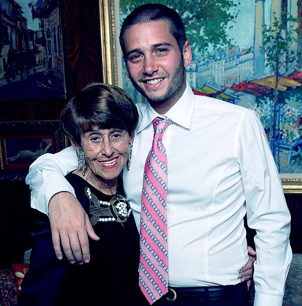 Image of Josh Flagg with his grandmother Edith Flagg