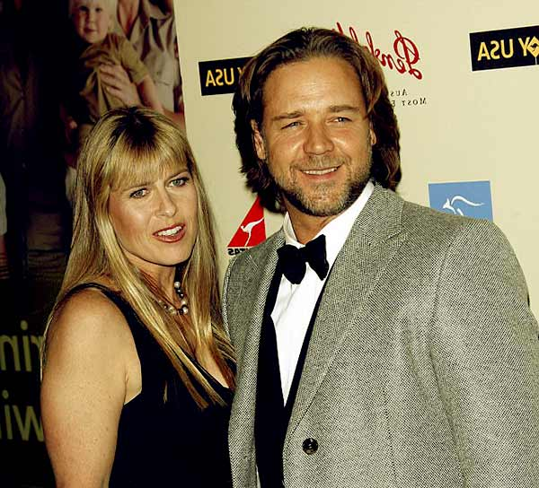 Image of Terri Irwin and Russel Crowe