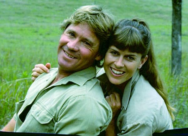 Image of Terri Irwin and her late husband Steve