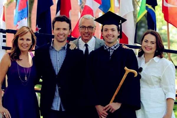 Image of Dr Drew Pinsky Children: Douglas Drew Pinsky, Paulina Marie Pinsky, and Jordan Davidson Pinsky