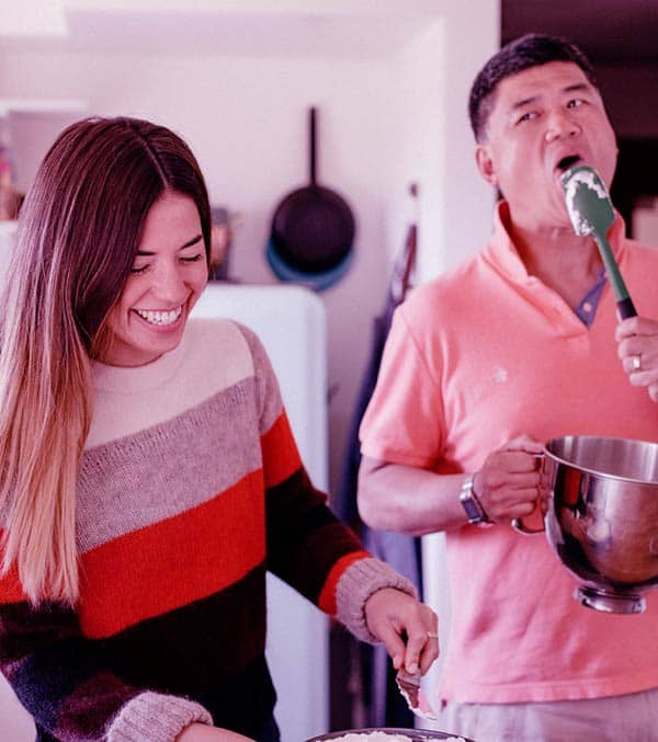 Image of Molly Yeh and her father John Bruce Yeh