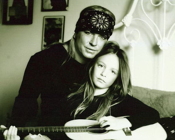 Image of Raine Michaels with her father Bret Michaels