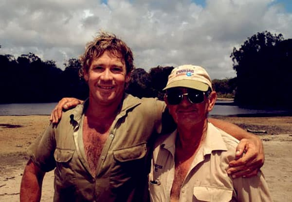 Image of Steve Irwin with his father Bob Irwin