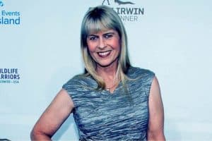 Image of Terri Irwin net worth.