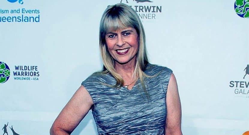 Image of Terri Irwin net worth.