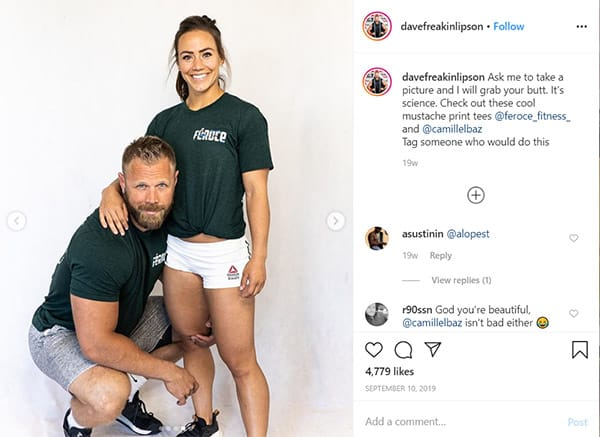 Image of Caption: Dave Lipson with his wife Camille Leblanc-Bazinet