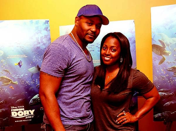 Image of Caption: Keshia Knight Pulliam with her ex-husband Ed Hartwell