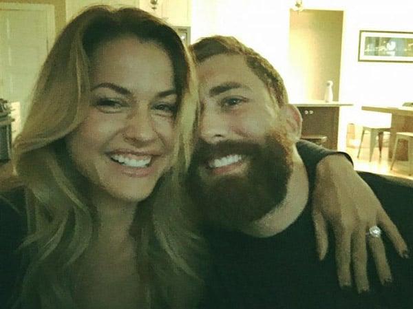 Image of Caption: Christmas Abbott with her boyfriend Geoff Kercher