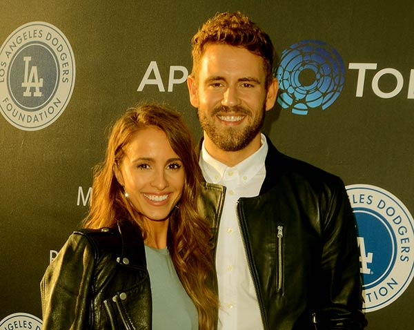 Image of Caption: Nick Viall with Vanessa Grimaldi