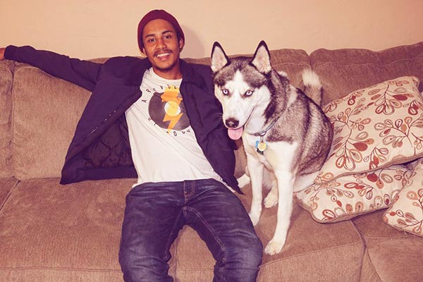 Image of Author Gunn with his dog Lexi