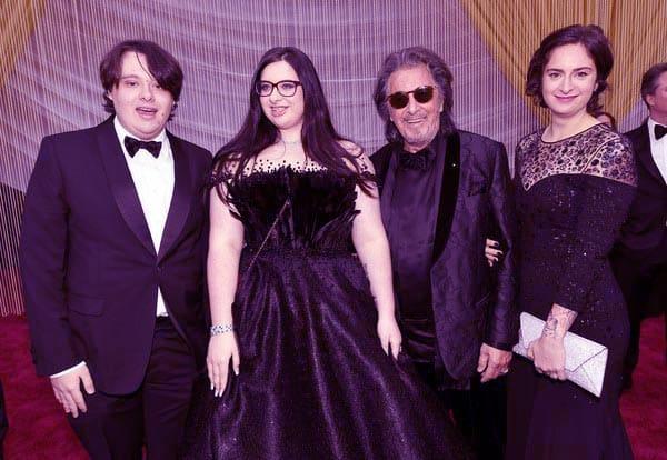 Image of Al Pacino with kids Olivia, Anton James and Julie