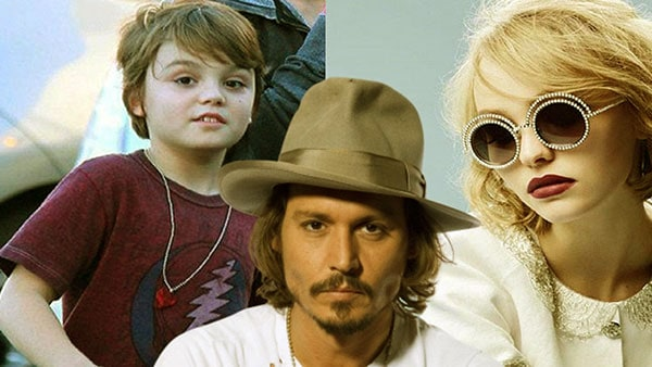 Image of Johnny Deep kids Jack and Lily-Rose