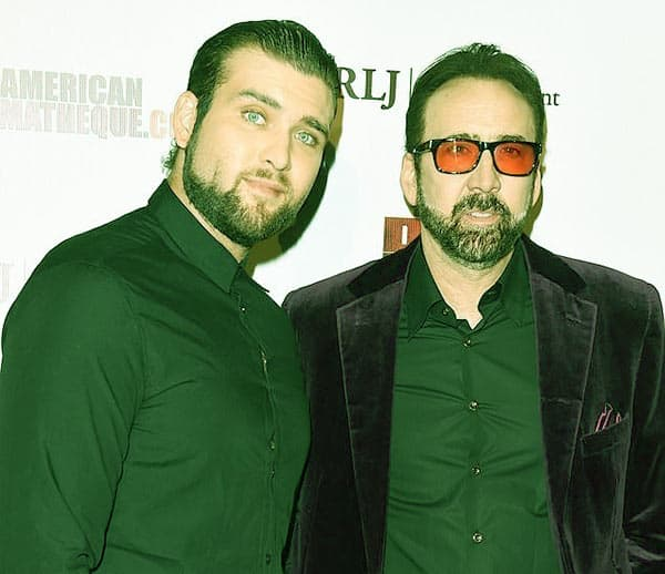Image of Nicolas Cage with his son Weston