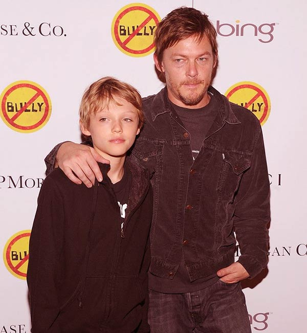 Image of Norman Reedus with his son Mingus Lucien